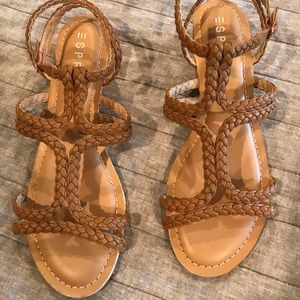 NWOT Esprit tan wedge sandals